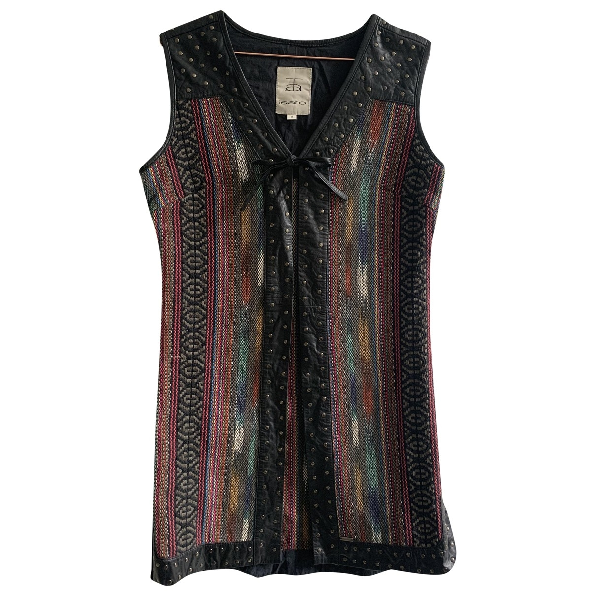 Non Signé / Unsigned \N Multicolour Leather jacket for Women M International