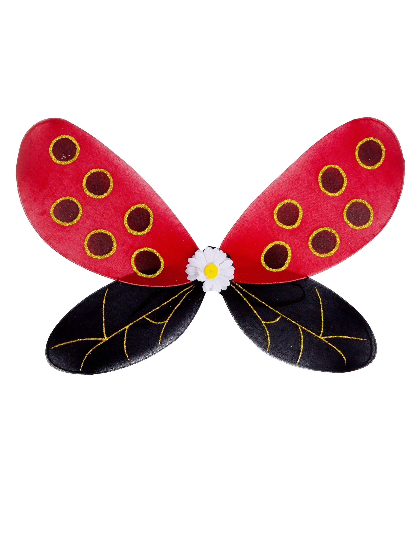 Kostuemzubehor Fluegel Marienkaefer Erwachsene Farbe: rot/schwarz