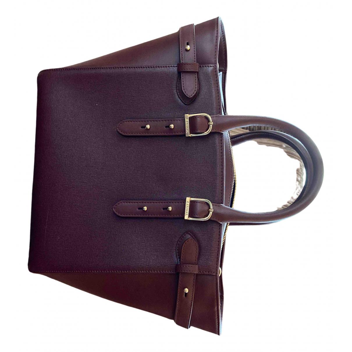 Aspinal Of London N Burgundy Leather handbag for Women N