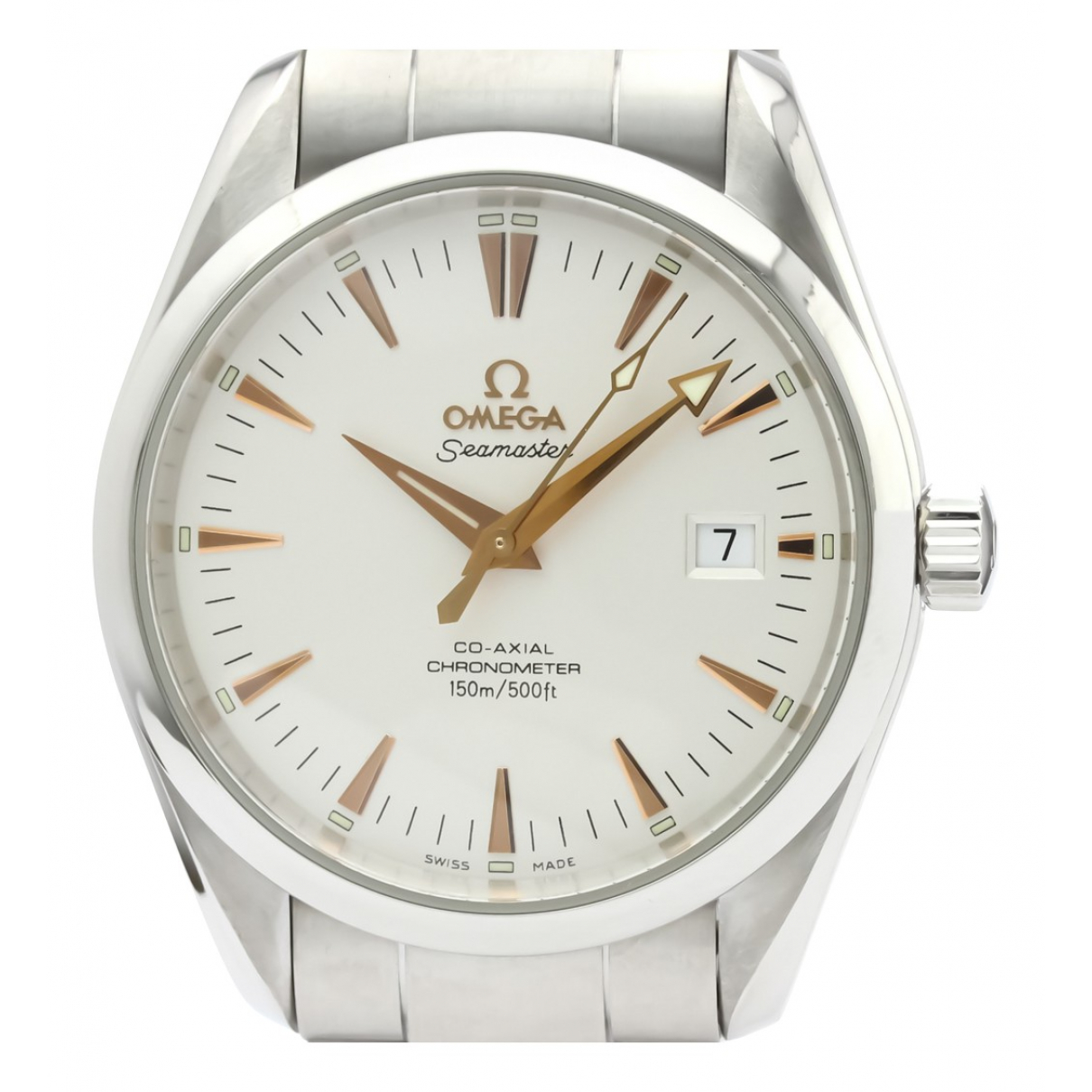 Omega Seamaster Silver Steel watch for Men N