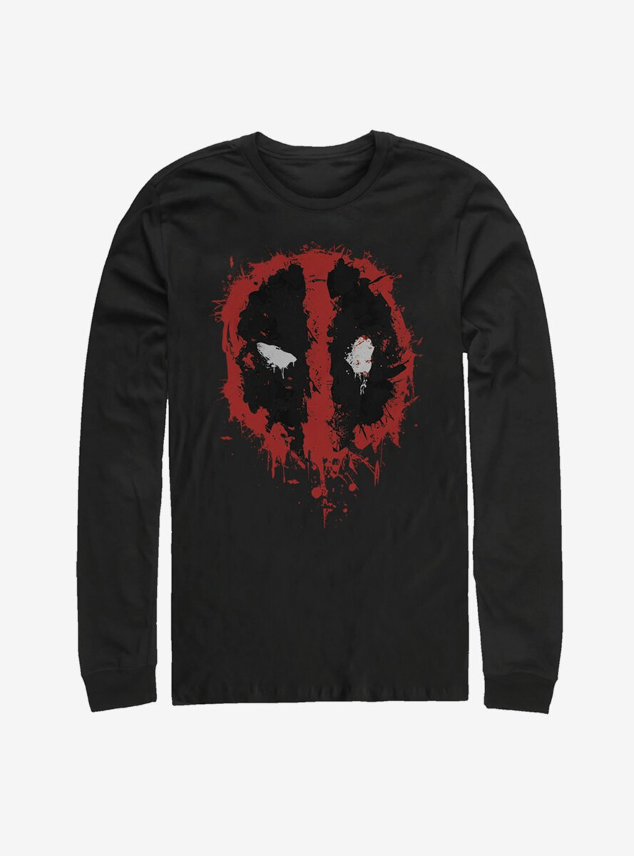Marvel Deadpool Splatter Icon Long Sleeve T-Shirt