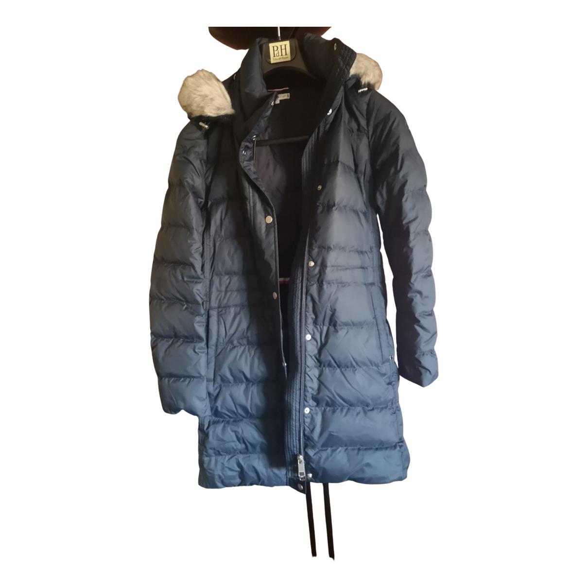 Tommy Hilfiger - Manteau   pour femme en tweed - marine