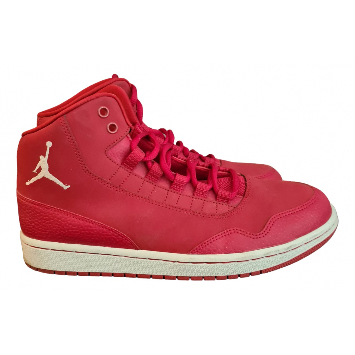 Jordan \N Red Leather Trainers for Women 42 EU