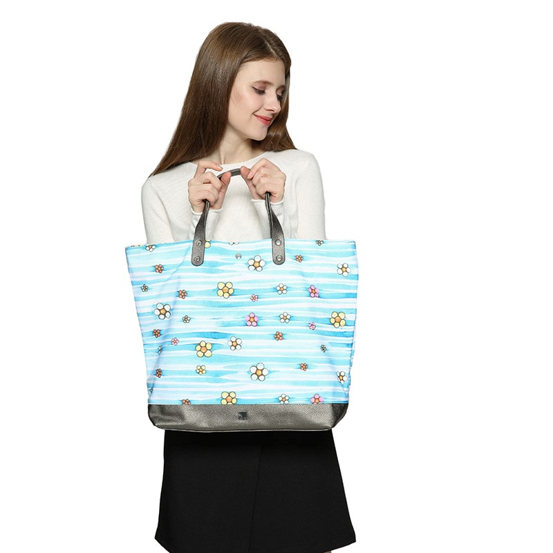 Ericdress Bohemian Canvas Floral Square Tote Bags
