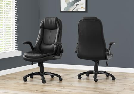 I 7277 Office Chair - Black Leather-Look High Back