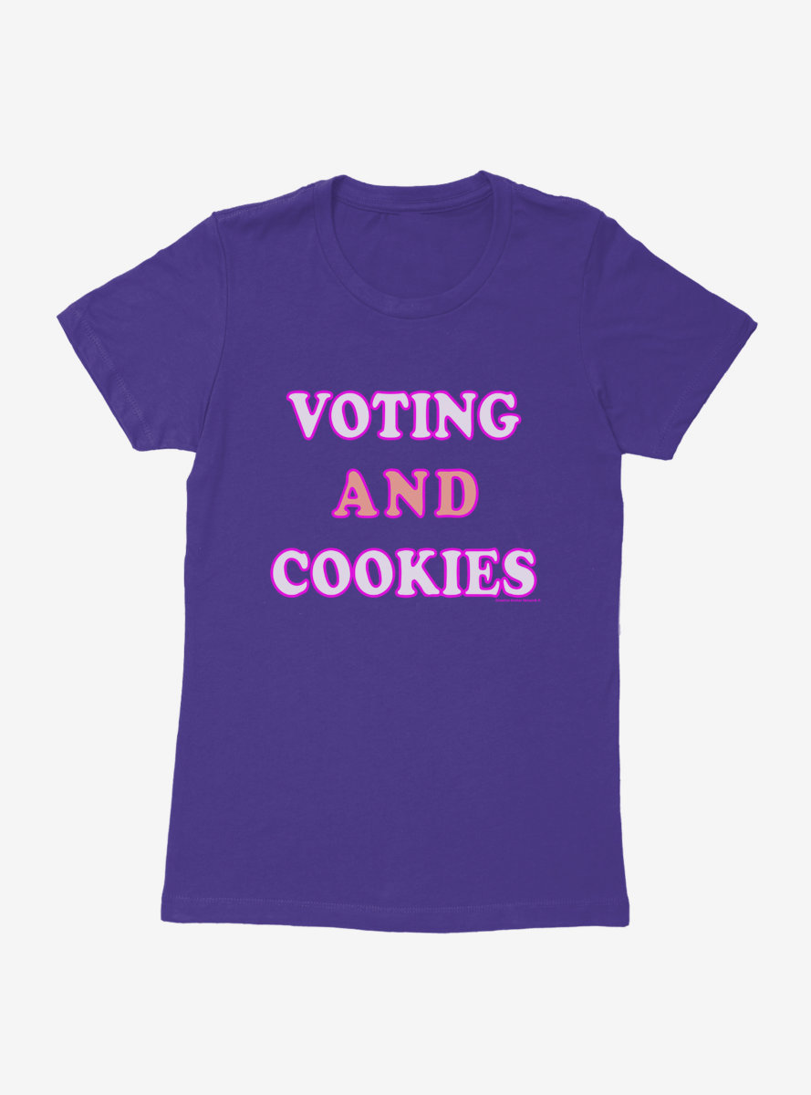 Vote Voting And Cookies Womens T-Shirt