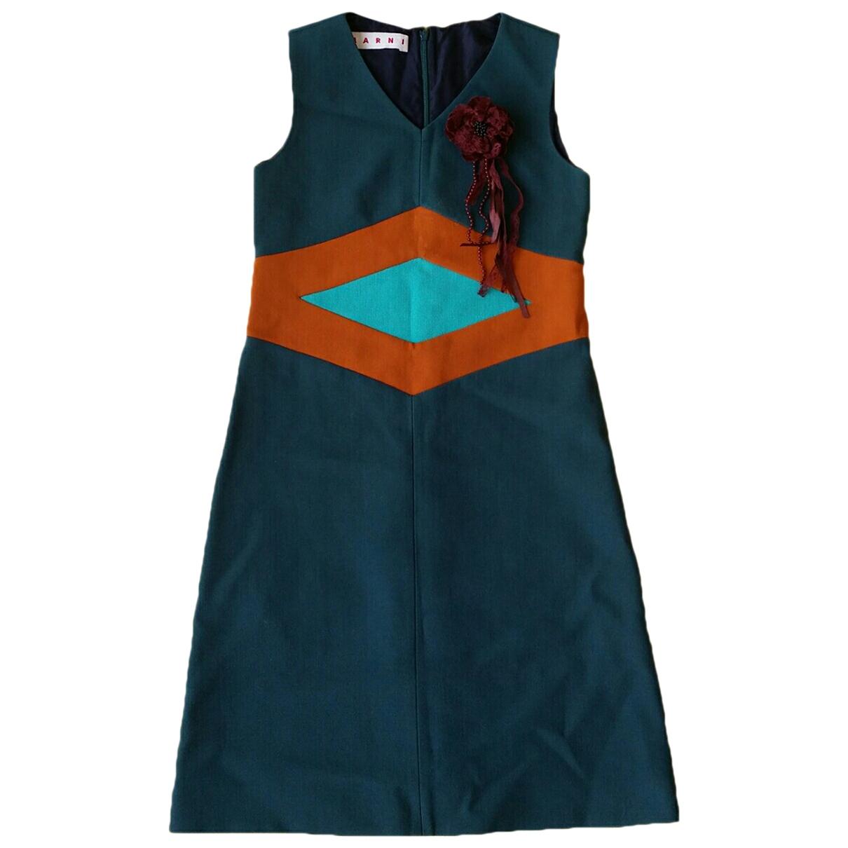 Marni - Robe   pour femme en laine - multicolore