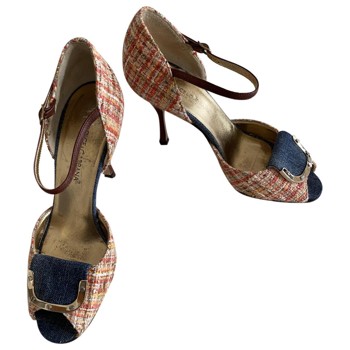 Dolce & Gabbana \N Multicolour Tweed Sandals for Women 36.5 EU