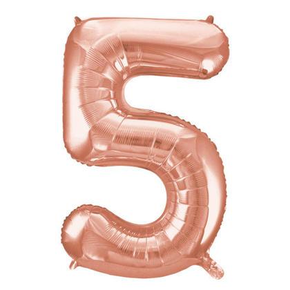 Ballon Numéro 5 en Or Rose 34