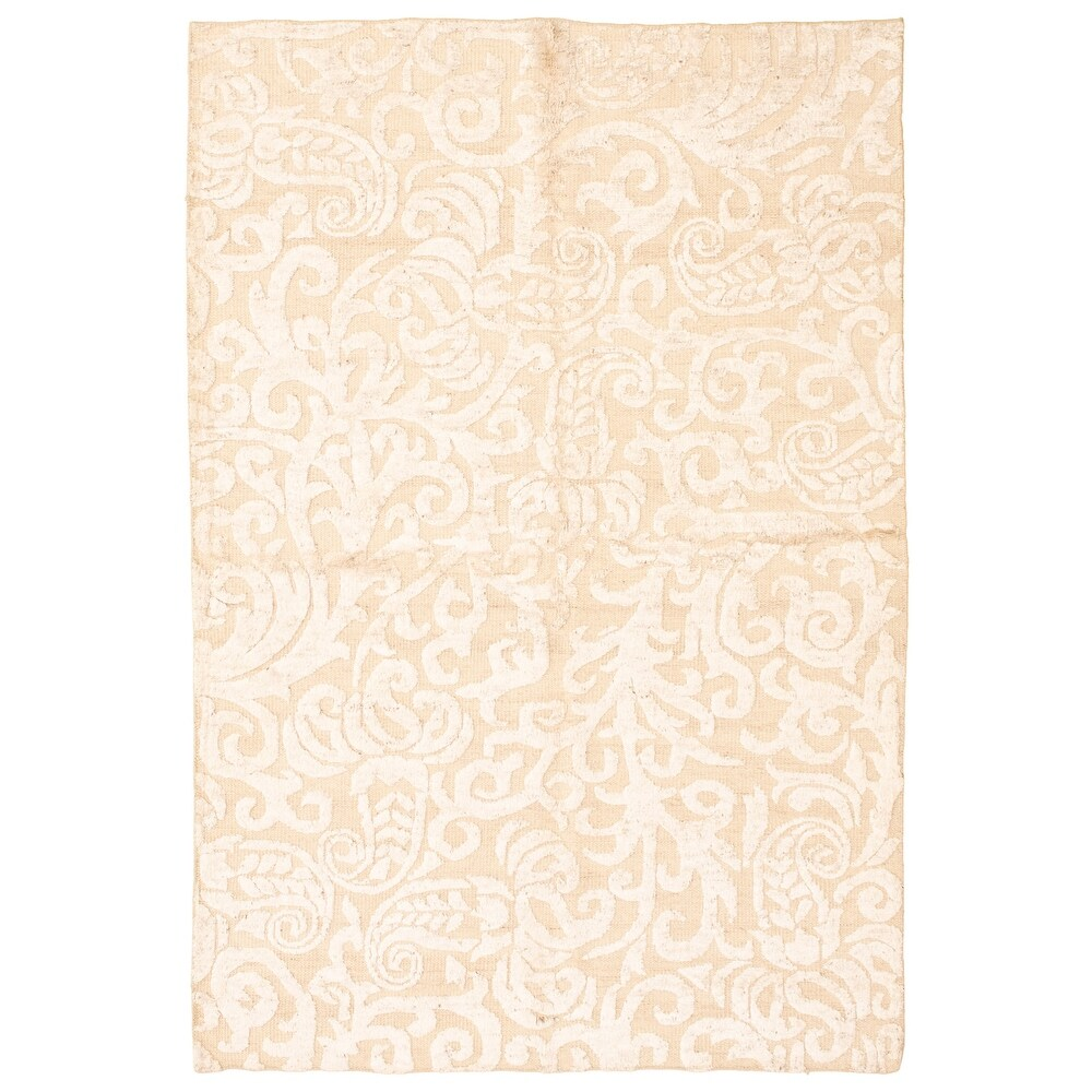 ECARPETGALLERY  Hand-knotted Tangier Beige  Rug - 5'2 x 7'9 (5'2 x 7'9 - Beige)