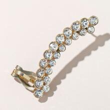 Cuff de oreja con diamante de imitacion