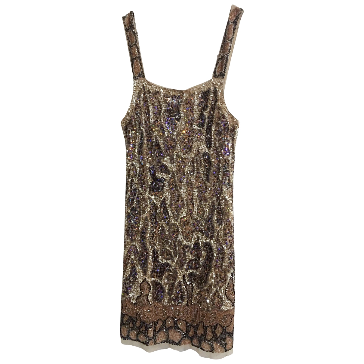 Zara \N Gold Glitter dress for Women 40 IT