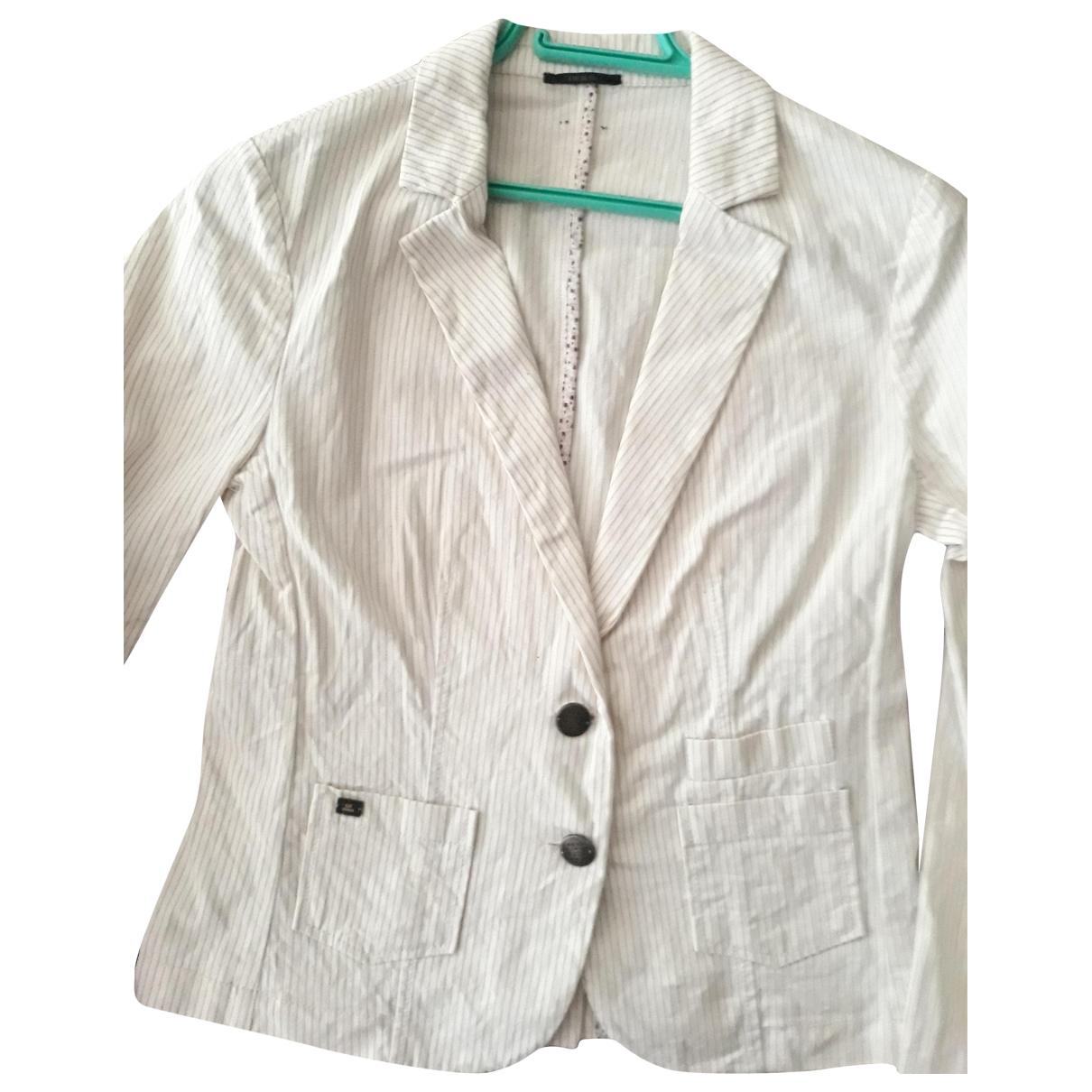 Ikks \N White Cotton jacket for Women 38 FR