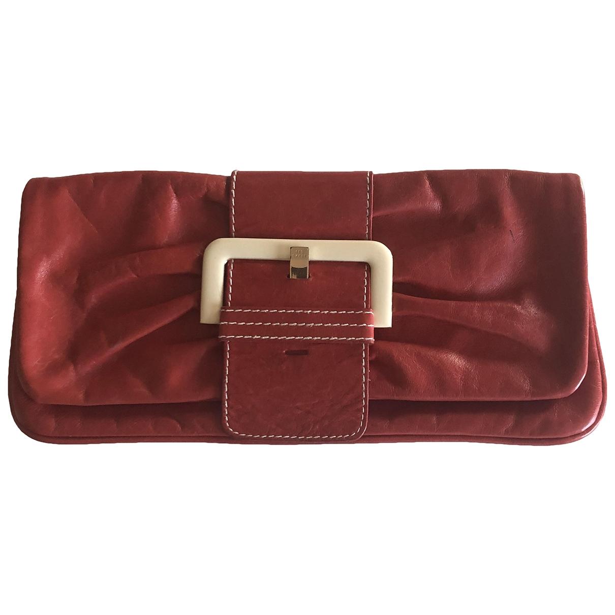 Ted Baker \N Clutch in  Rot Leder