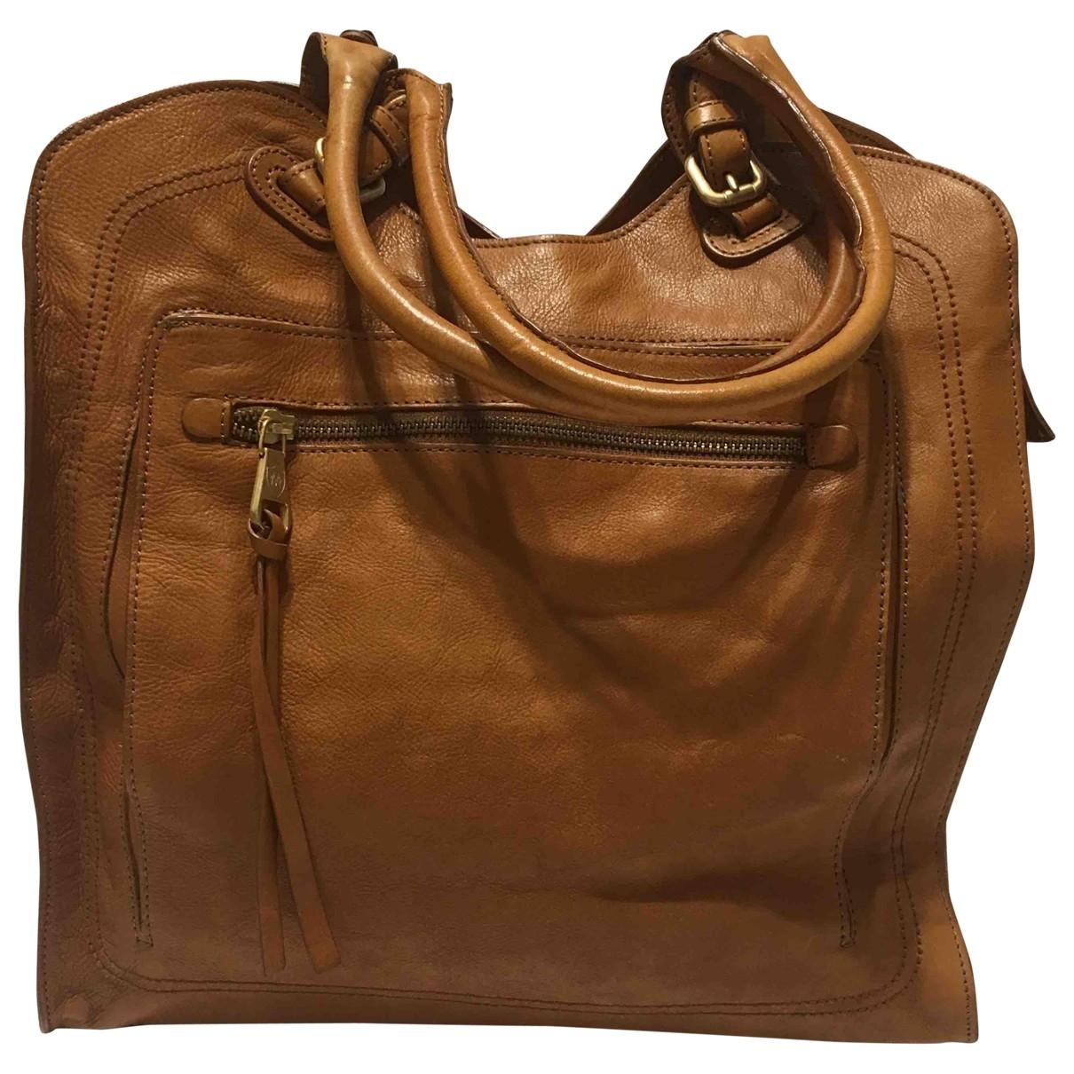Massimo Dutti \N Handtasche in  Kamel Leder