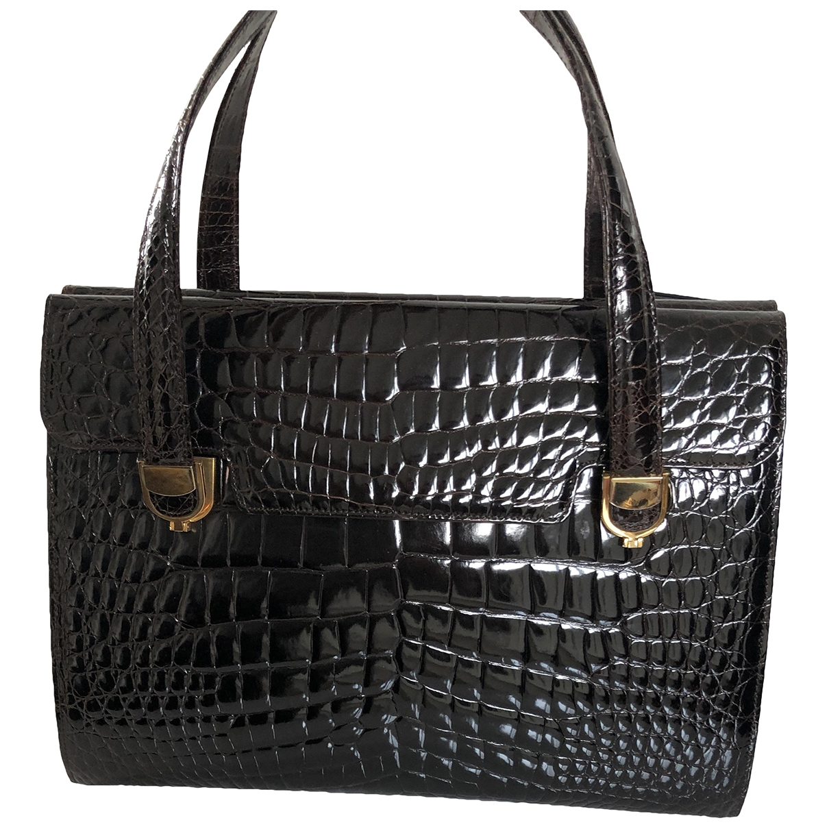 Non Signé / Unsigned \N Brown Alligator handbag for Women \N