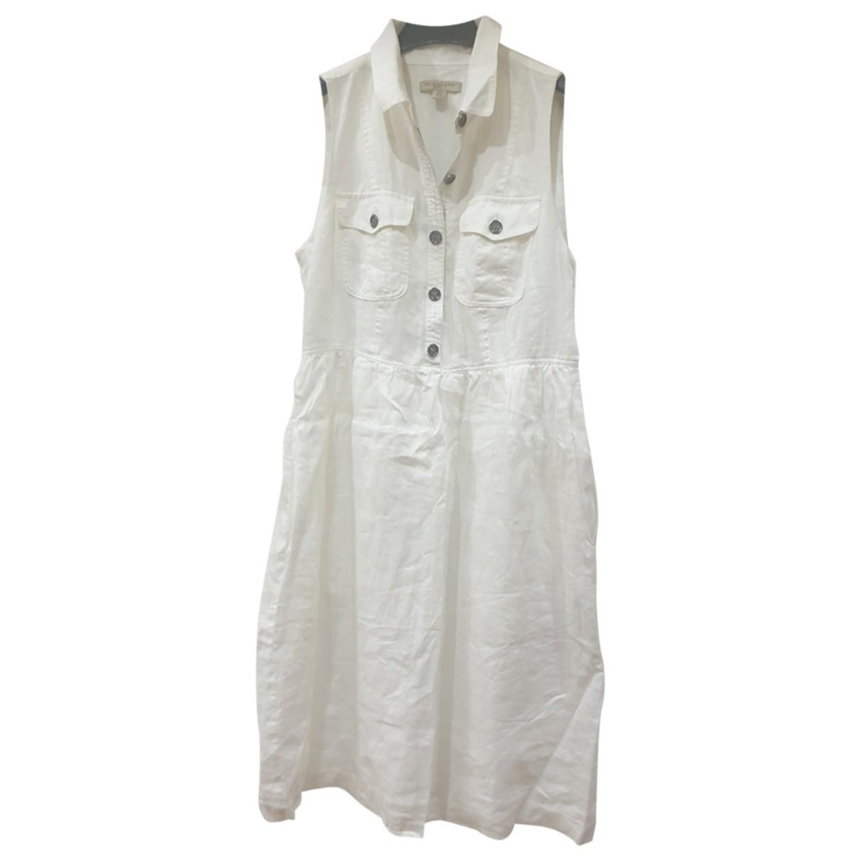 Burberry \N White Cotton dress for Women 38 IT