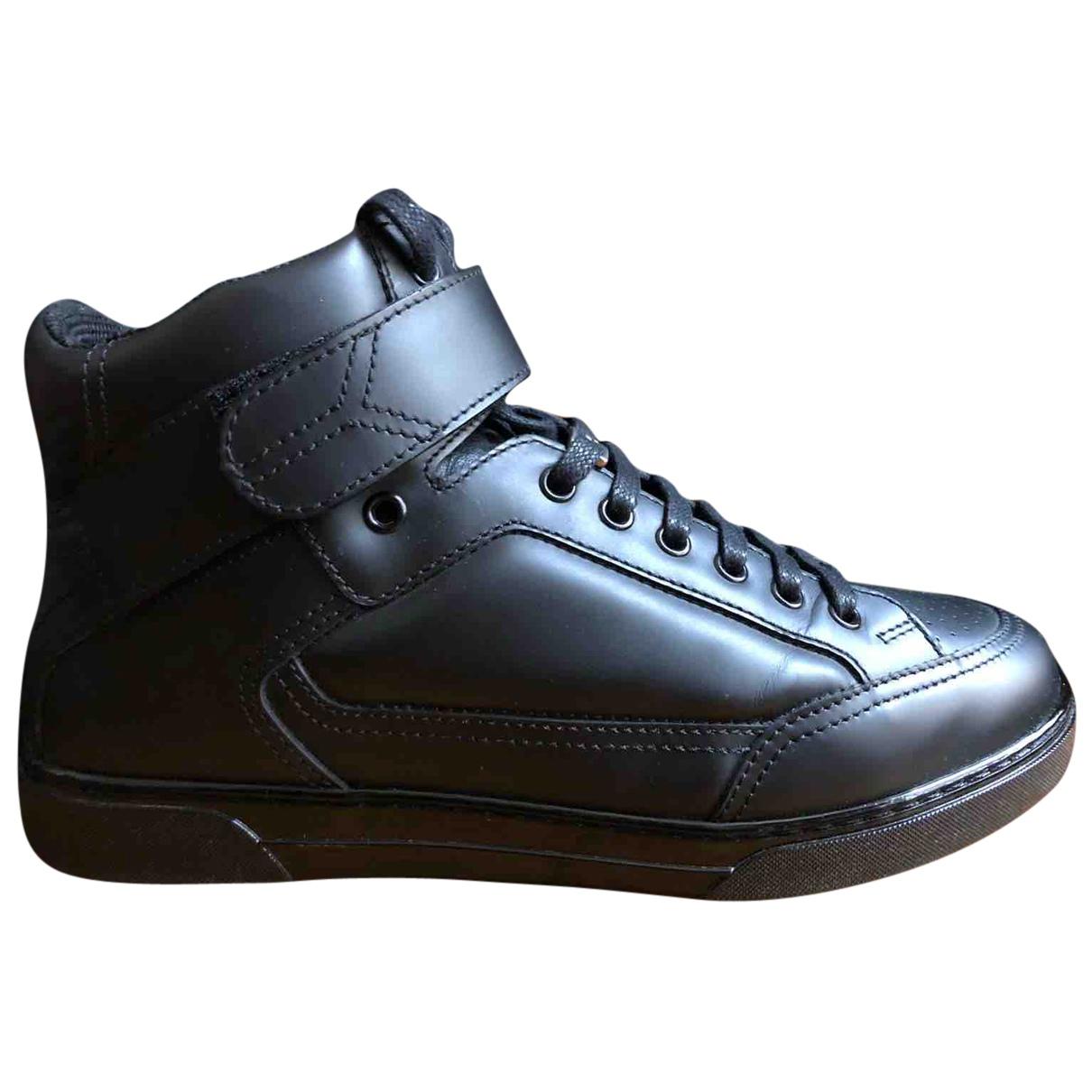 Saint Laurent \N Sneakers in  Schwarz Leder