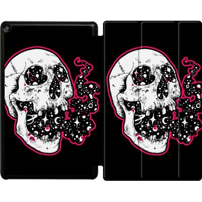 Amazon Fire HD 10 (2018) Tablet Smart Case - Space Skull Black von Kreatyves