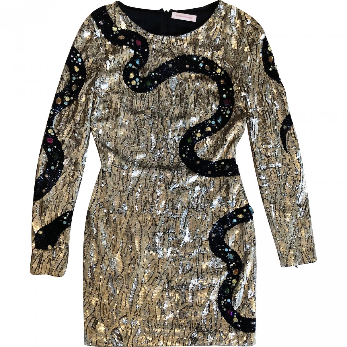 Matthew Williamson \N Gold Silk dress for Women 10 UK