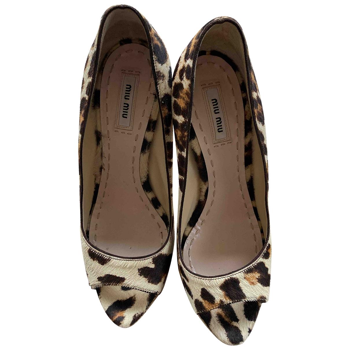 Sandalias de Piel de potro de imitacion Miu Miu