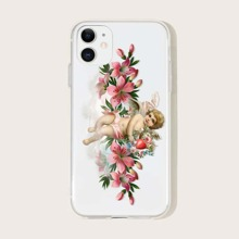 1pc Angle Print iPhone Case