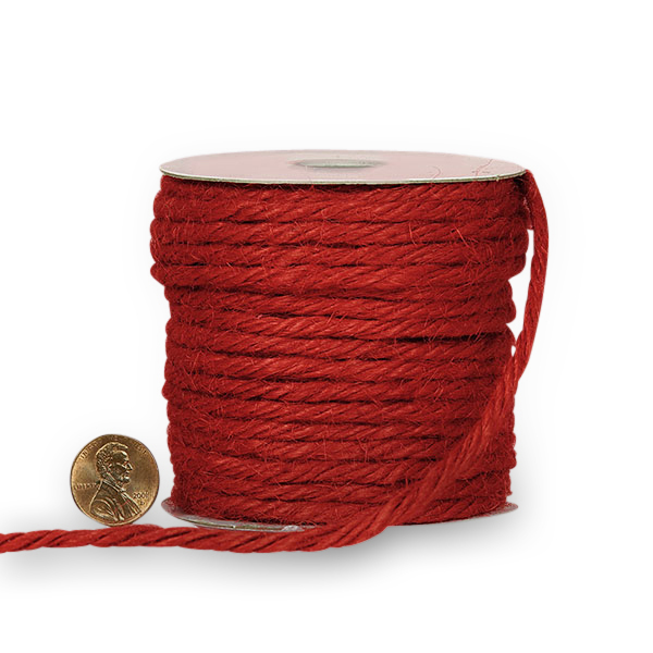 Colored 3.5mm X 25 Yards Red Jute Cord by Ribbons.com