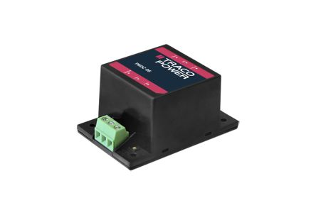 TRACOPOWER TMDC 06 6W Isolated DC-DC Converter Chassis Mount, Voltage in 9 → 36 V dc, Voltage out 5.1V dc
