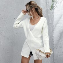 Crossover Drop Shoulder Sweater