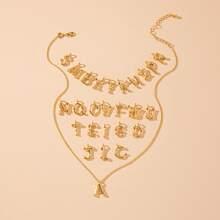 Collar desmontable con diseño de 26 letra