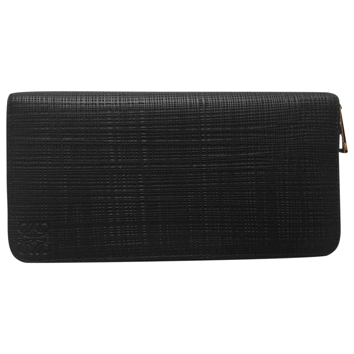 Loewe \N Black Leather wallet for Women \N
