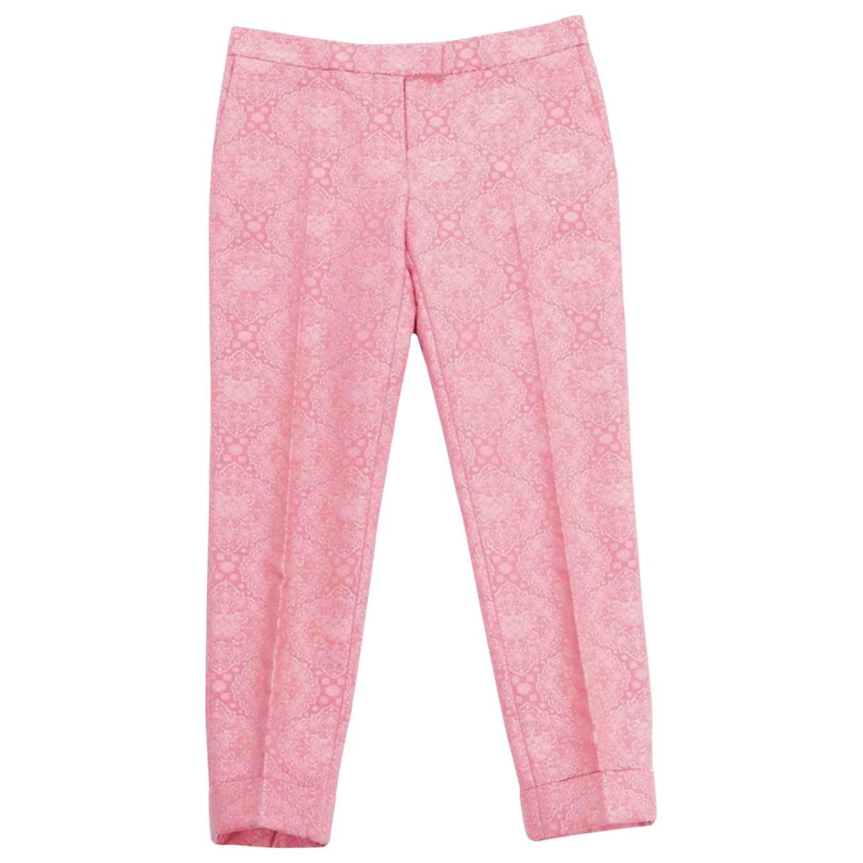 Stella Mccartney \N Pink Cotton Trousers for Women 40 IT