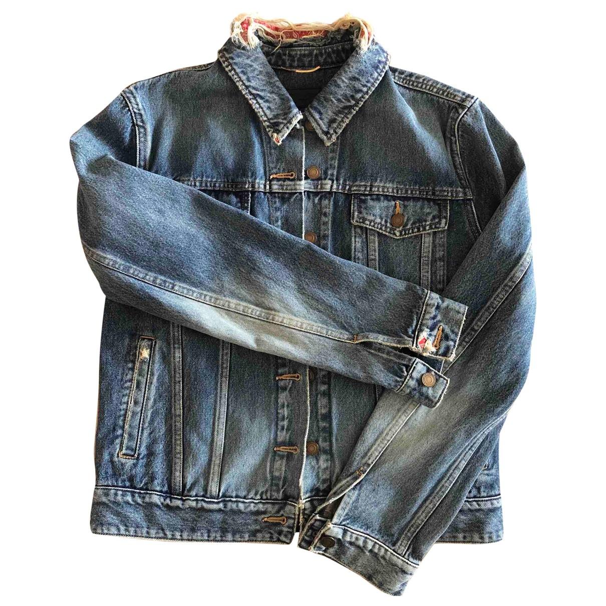 Saint Laurent \N Blue Denim - Jeans jacket for Women S International