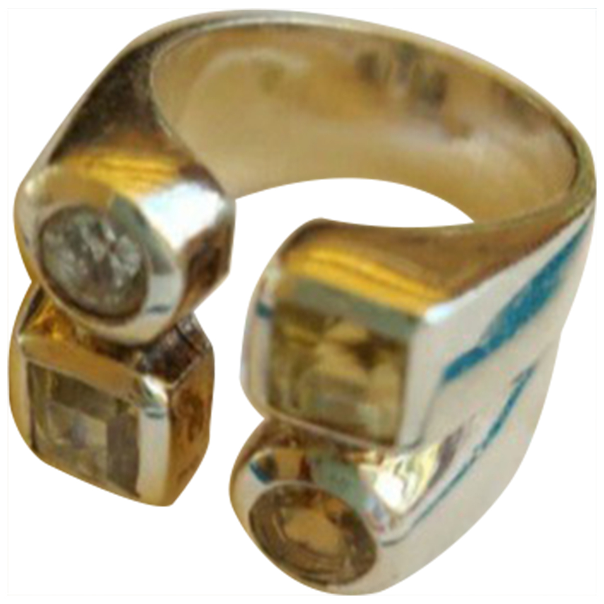 Non Signe / Unsigned Motifs Ethniques Ring in  Silber Silber