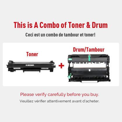 Brother TN760 DR730 cartouche de toner et tambour compatible combo (TN760 sans puce) - Moustache�