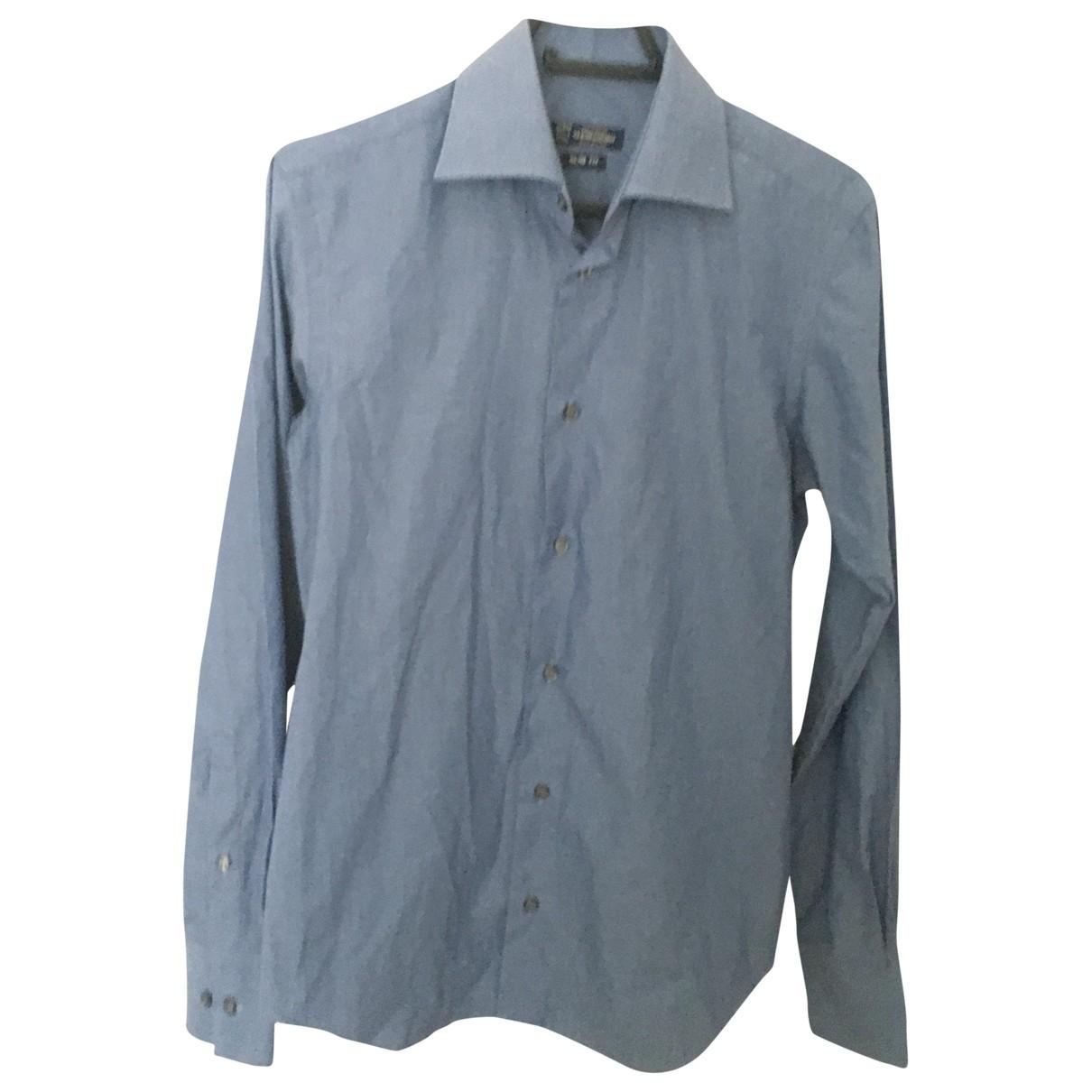 Non Signé / Unsigned \N Blue Cotton Shirts for Men 39 EU (tour de cou / collar)