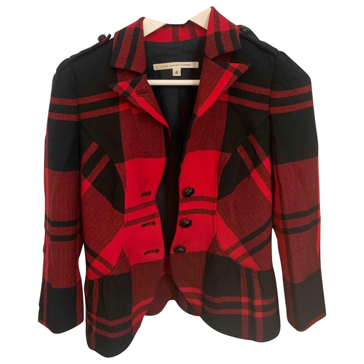 Diane Von Furstenberg - Veste   pour femme en laine - rouge