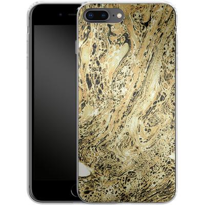 Apple iPhone 7 Plus Silikon Handyhuelle - Marbled Sand von Amy Sia