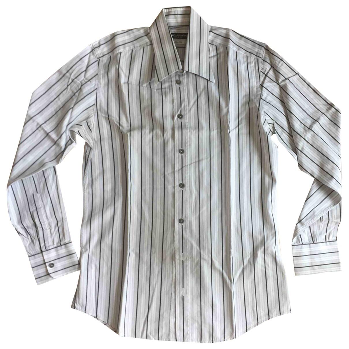 Dolce & Gabbana - Chemises   pour homme en coton - gris