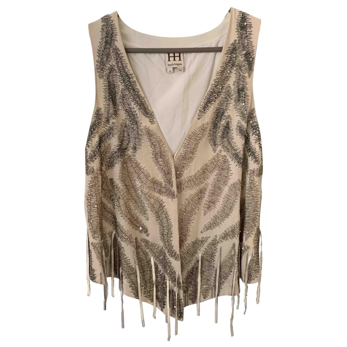 Haute Hippie - Veste   pour femme en soie - ecru