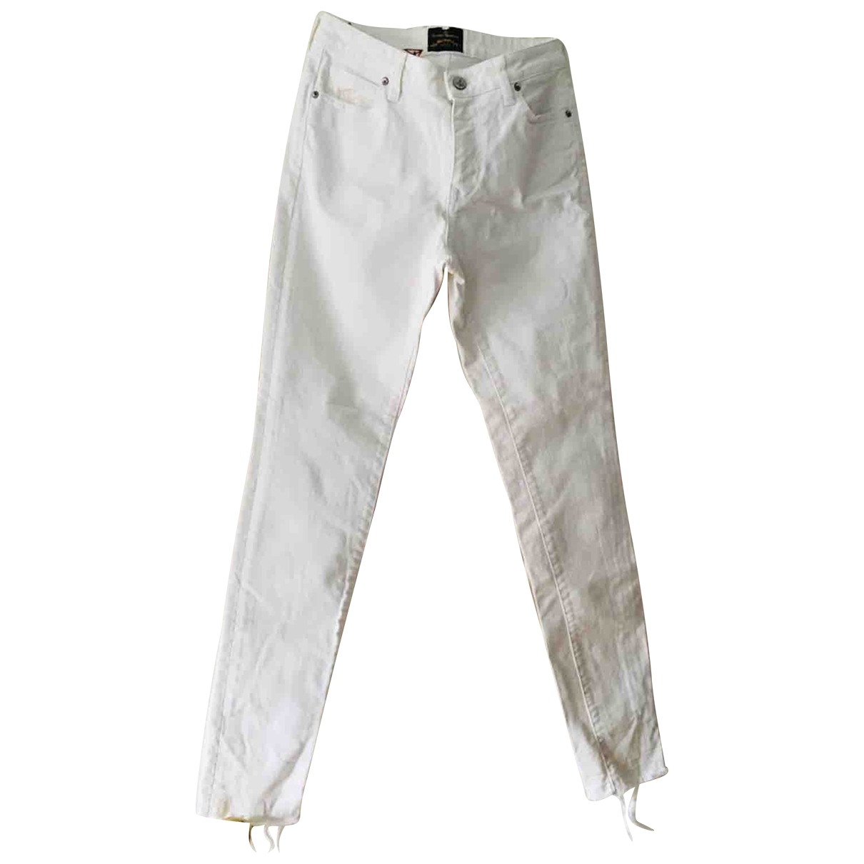 Vivienne Westwood Anglomania \N White Cotton - elasthane Jeans for Women 26 US