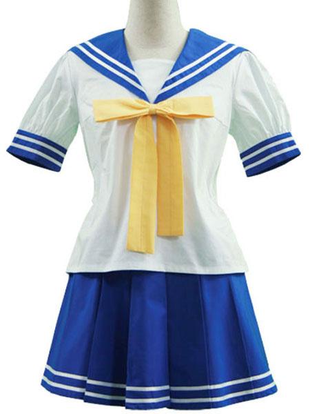 Milanoo Lucky Star Izumi Konata Cosplay Costume Seifuku School Uniform Halloween