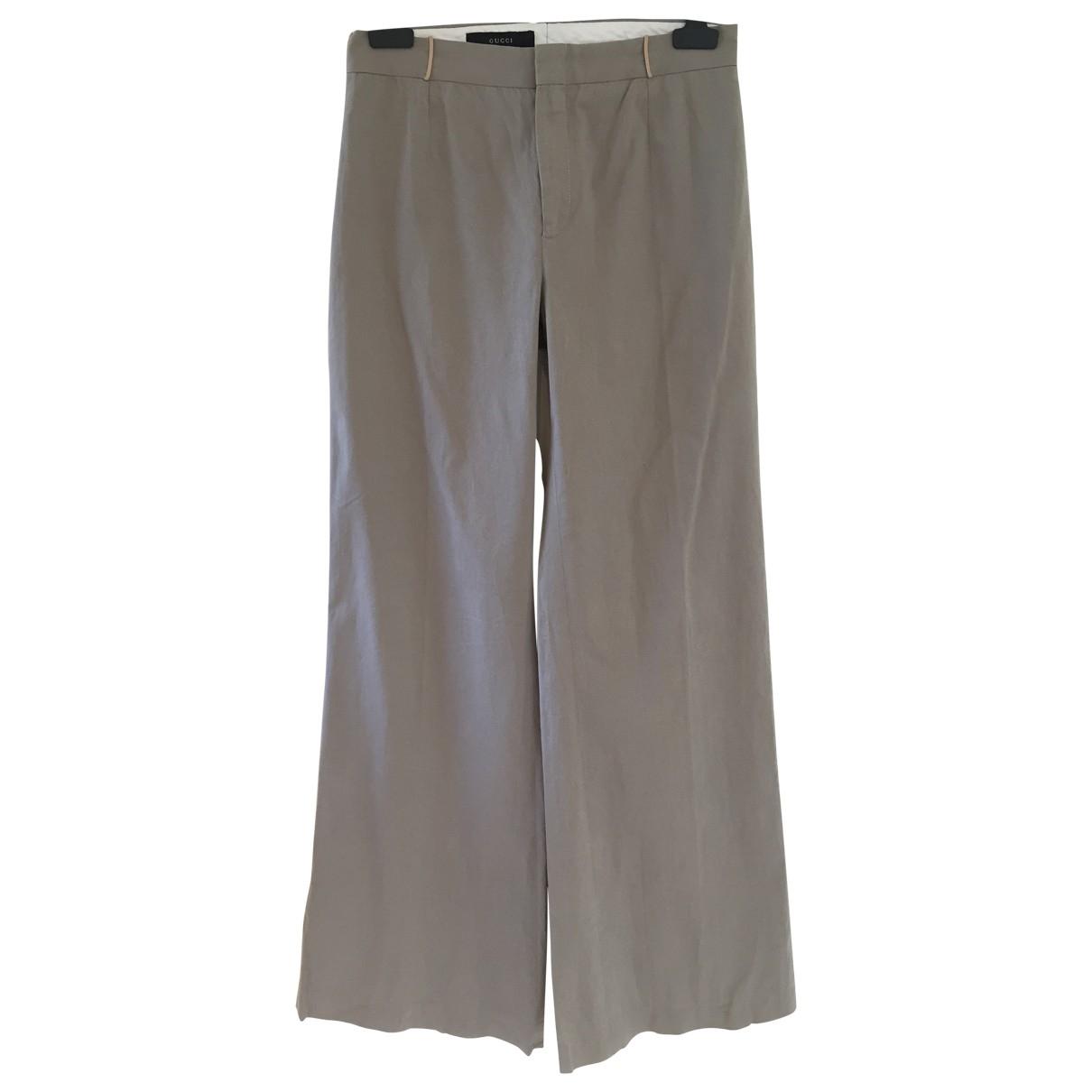 Gucci - Pantalon   pour femme en coton - kaki