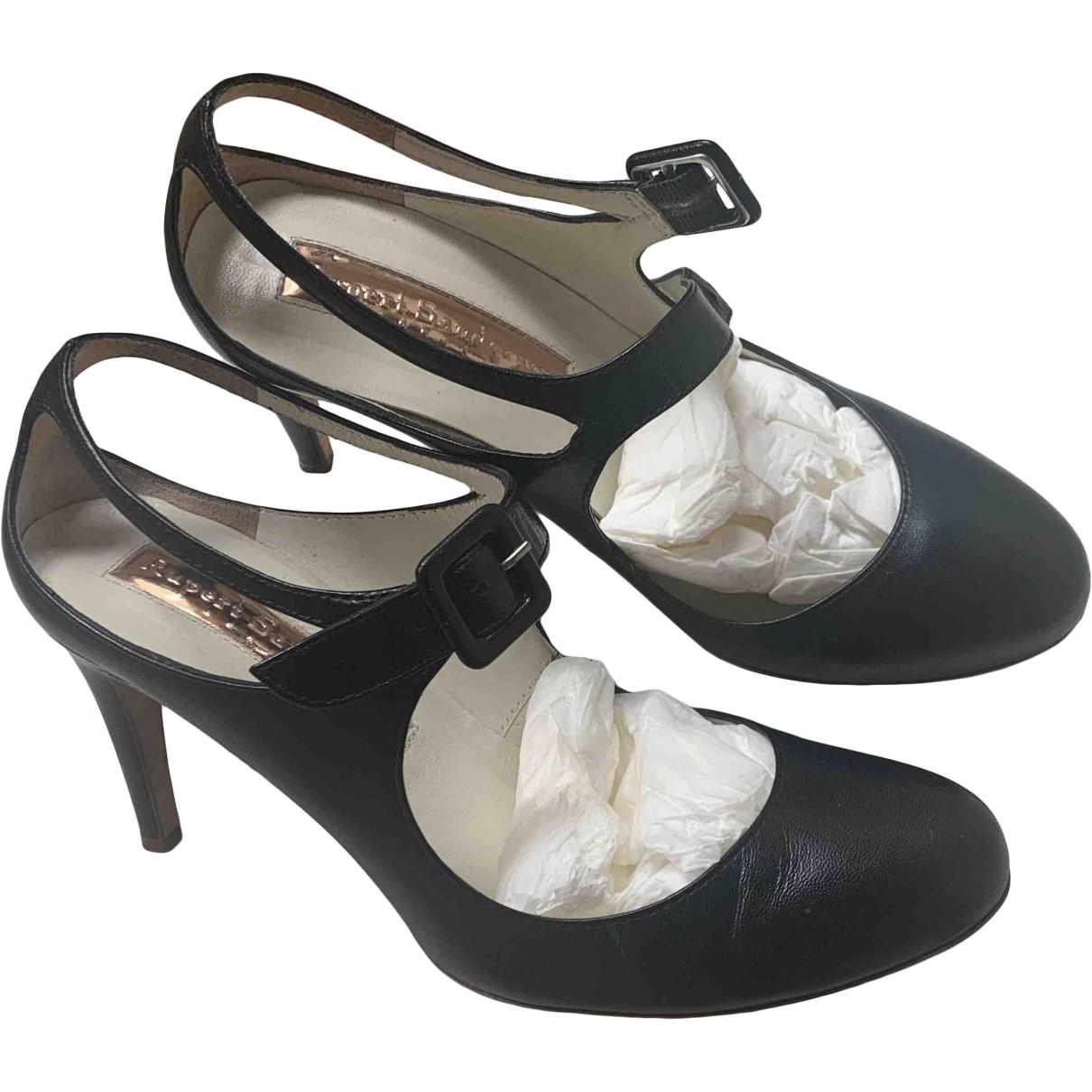Rupert Sanderson \N Black Leather Heels for Women 34 EU