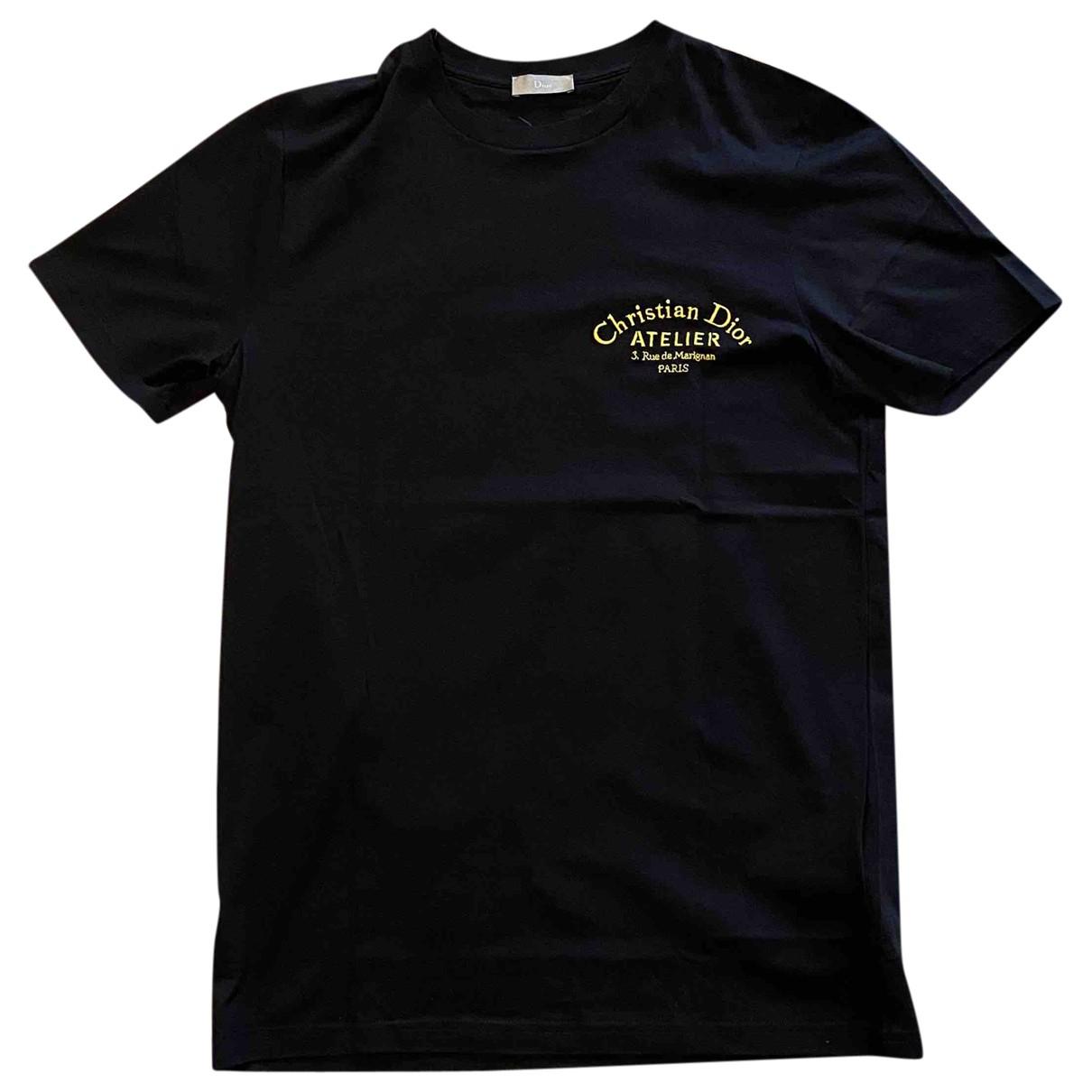 Christian Dior - Tee shirts   pour homme en coton - noir