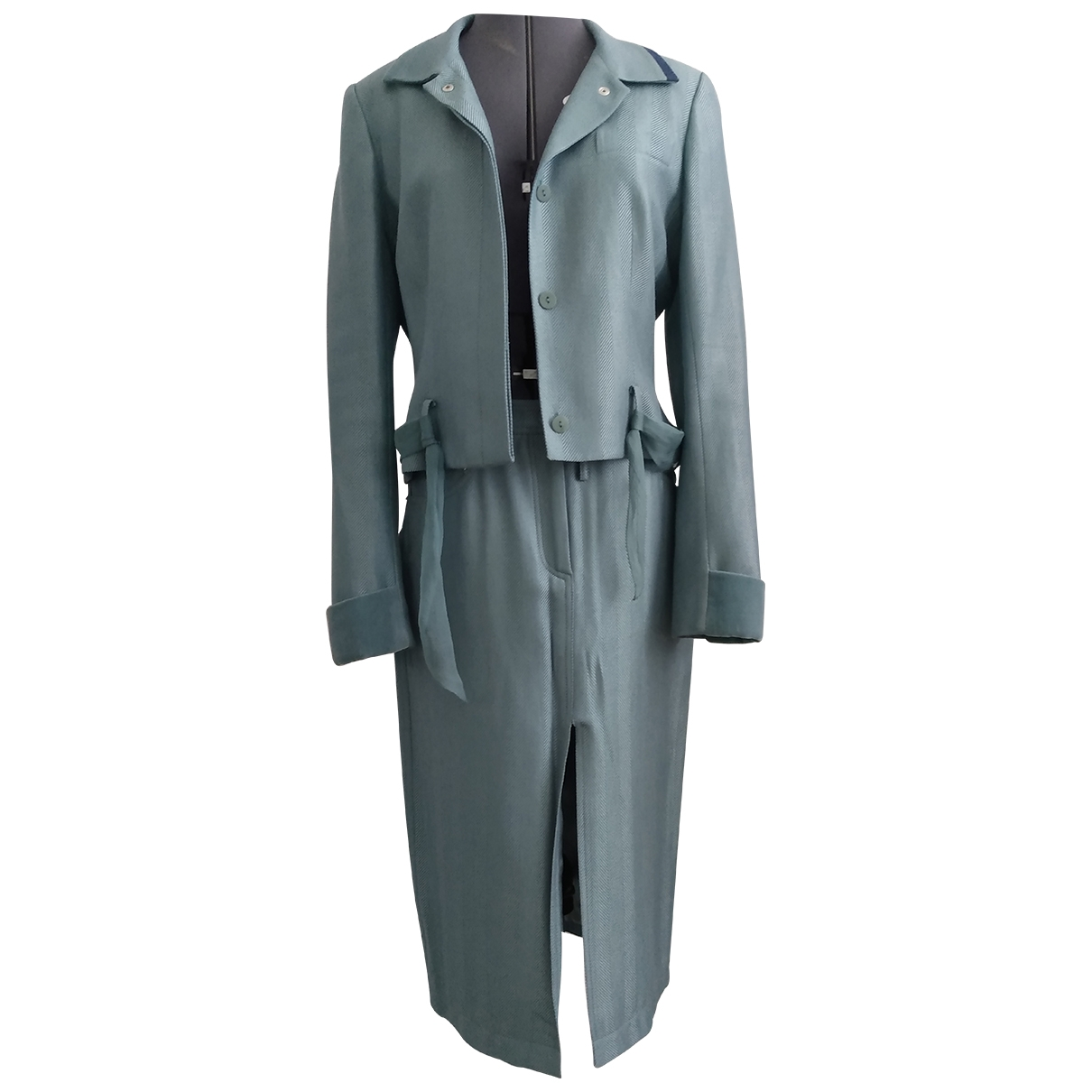 John Galliano - Veste   pour femme en laine - turquoise