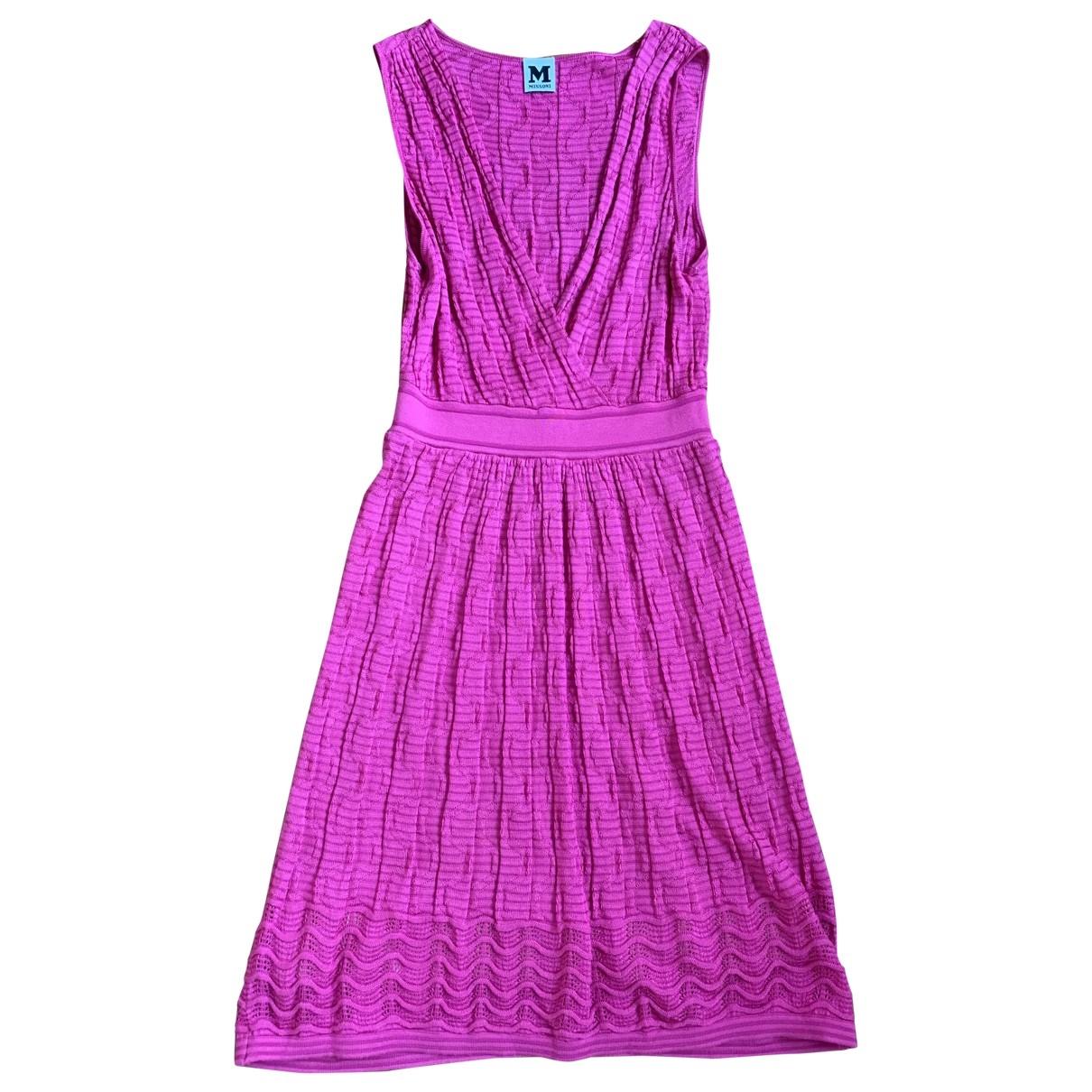 M Missoni \N Kleid in  Rosa Baumwolle