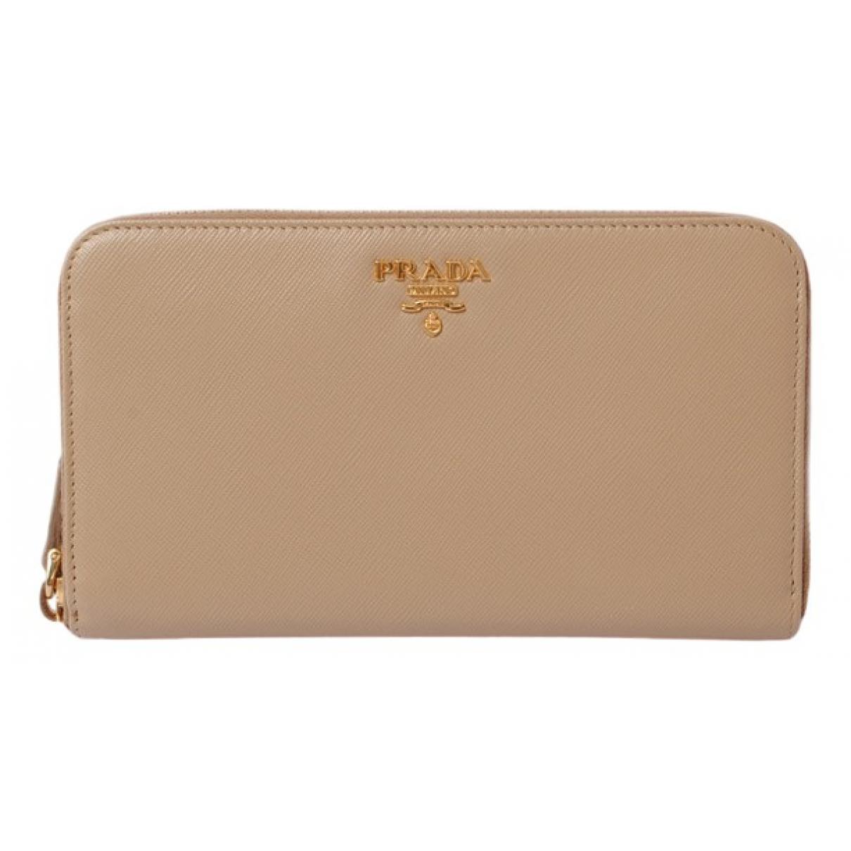 Prada \N Beige Leather wallet for Women \N