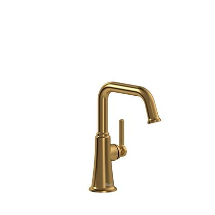Momenti MMSQS00LBG-05 Single Hole Lavatory Faucet with L Lever Handle without Drain 0.5 GPM  in Brushed