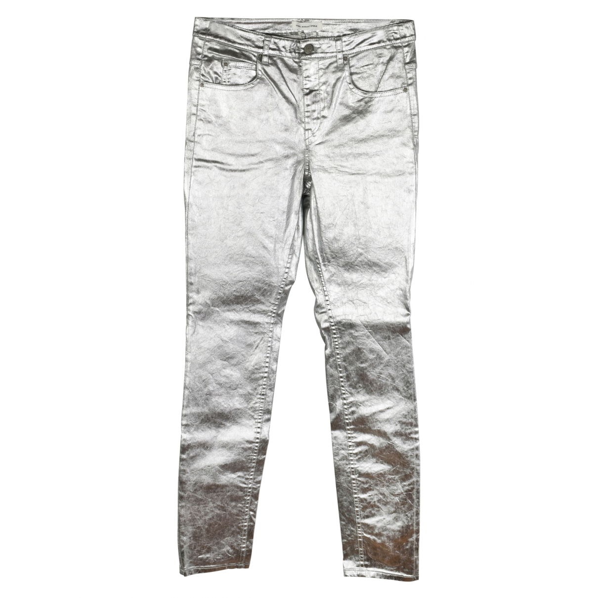 Isabel Marant Etoile \N Silver Cotton Jeans for Women 30 US